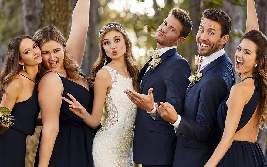 Aneta Mielicka Salon Salon Sukien Ślubnych - Panna młoda zdrużbami